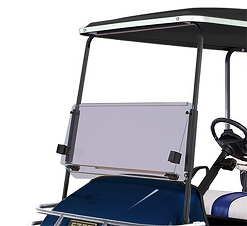 New ezgo txt clear windshield with folding acylic for golf for Golf cart garage door prices